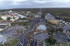 飓风迈克尔登陆美佛州致7死 美空军基地受重创